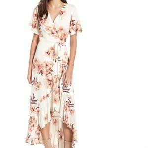 Leith Languid Floral Wrap Dress